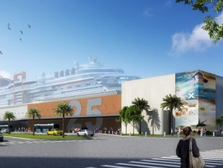 Außenansicht des neuen Terminals T25. Foto: Celebrity Cruises