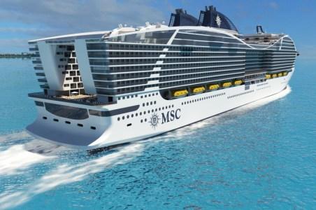 Heckansicht der World-Class Schiffe. Grafik: STX France