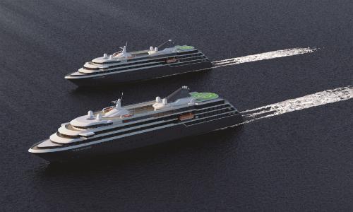 Die beiden Neubauten World Explorer und World Voyager. Grafik: nicko cruises