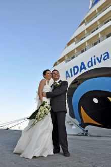 Hochzeit an Bord der AIDA Schiffe