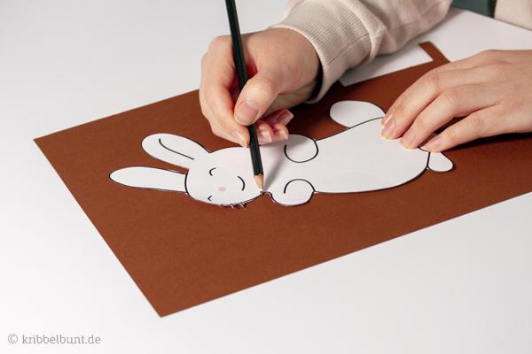 vorlagen für osterhasen aus papier  osterhasen basteln