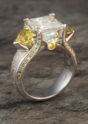 Juicy Mokume Engagement Rings