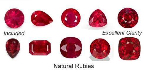Natural Ruby Education Ruby Engagement Rings