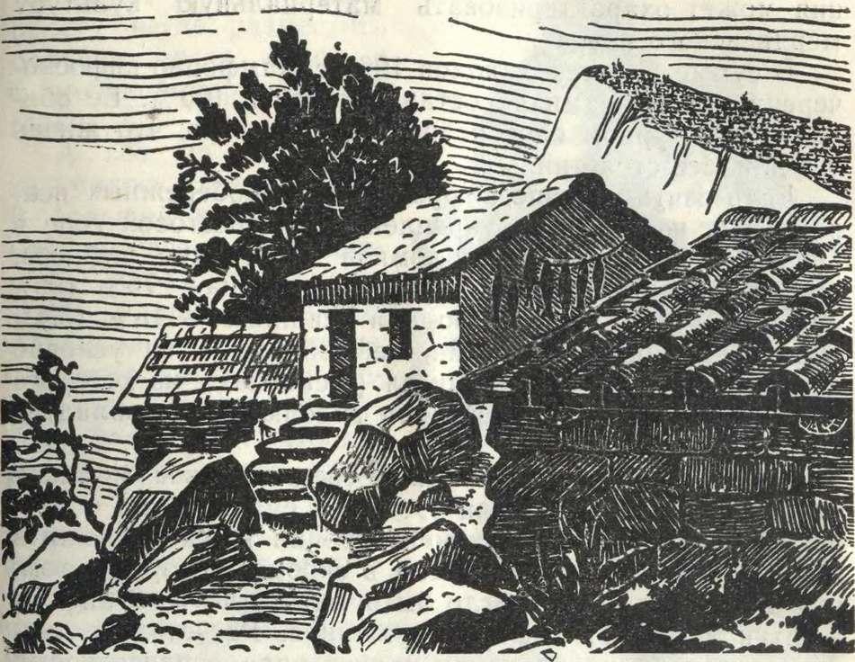 Реконструкция средневековых жилищ на Исар-Кая
