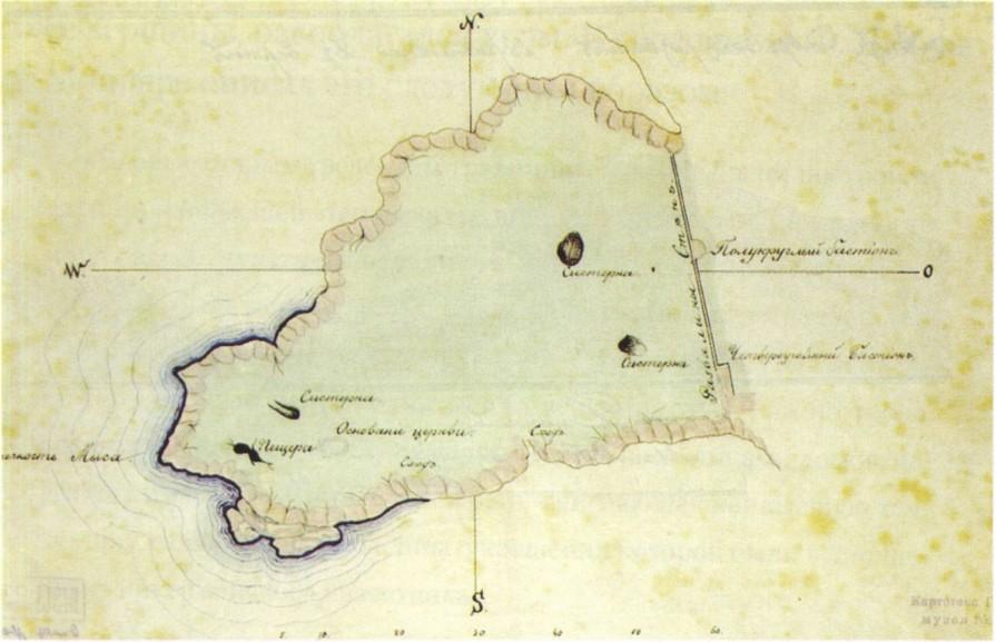 План укрепления Кок-Кия-Исар. 1823 г. (Копия конца XIX в., архив НЗХТ)