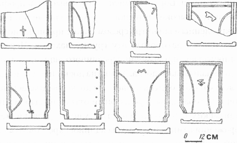 Средневековая черепица, продукция ласпинских гончаров
