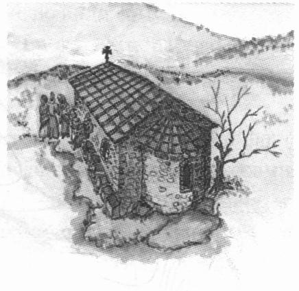 Храм Св. Ильи X—XIII вв. Рисунок автора