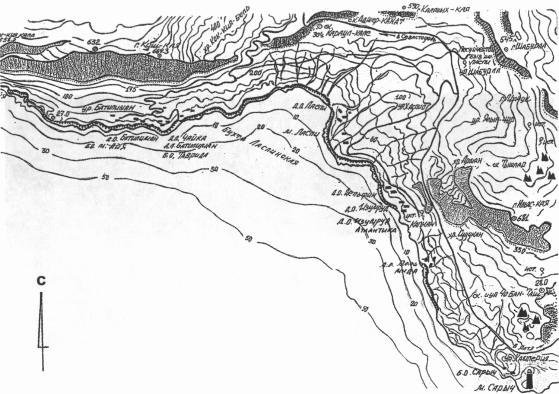Район Ласпи-Батилимана. Карта-схема