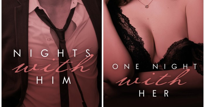 DUAL-COVER REVEAL: NIGHTS WITH HIM & ONE NIGHT WITH HER by Lauren Blakely