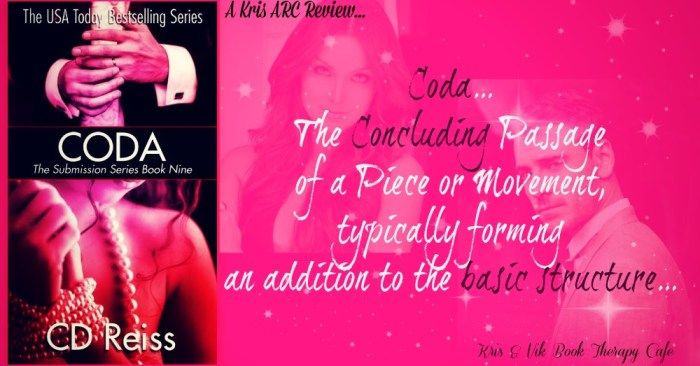 ARC Review: CODA by CD Reiss