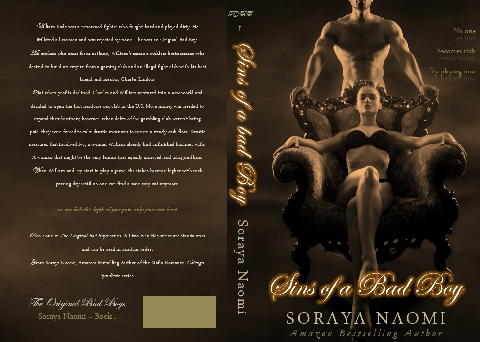 COVER REVEAL & EXCERPT: SINS OF A BAD BOY by Soraya Naomi
