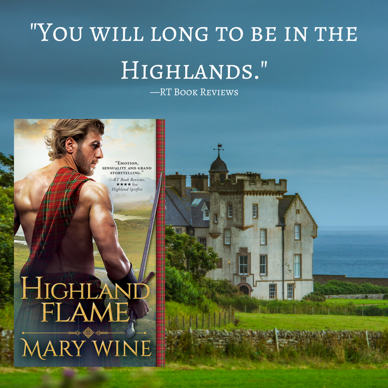 EXCERPT & GIVEAWAY: SPOTLIGHT is on HIGHLAND FLAME by Mary Wine