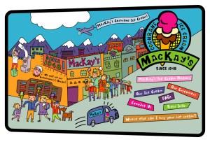 Mackay's Ice Cream website - Based on the original artwork of Dean Stanton