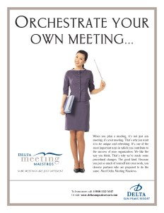 Delta Sun Peaks Orchestrate Meeting Flyer
