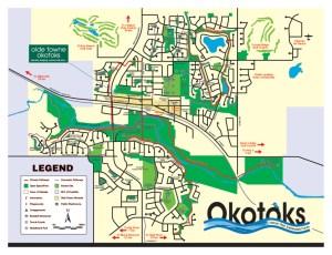 Town of Okotoks Pathways Map