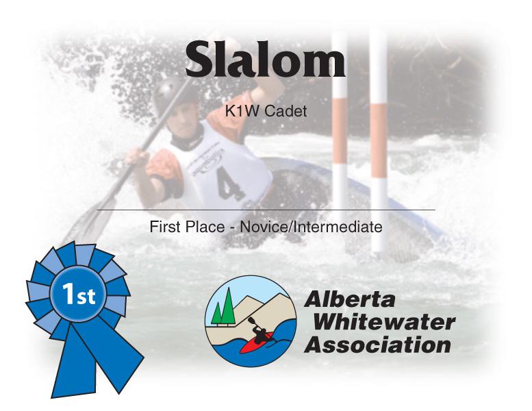Alberta Whitewater Association Certificate