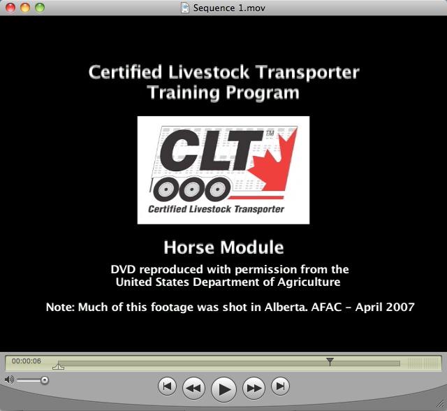 Canadian Livestock Transport Training Video (5 videos)