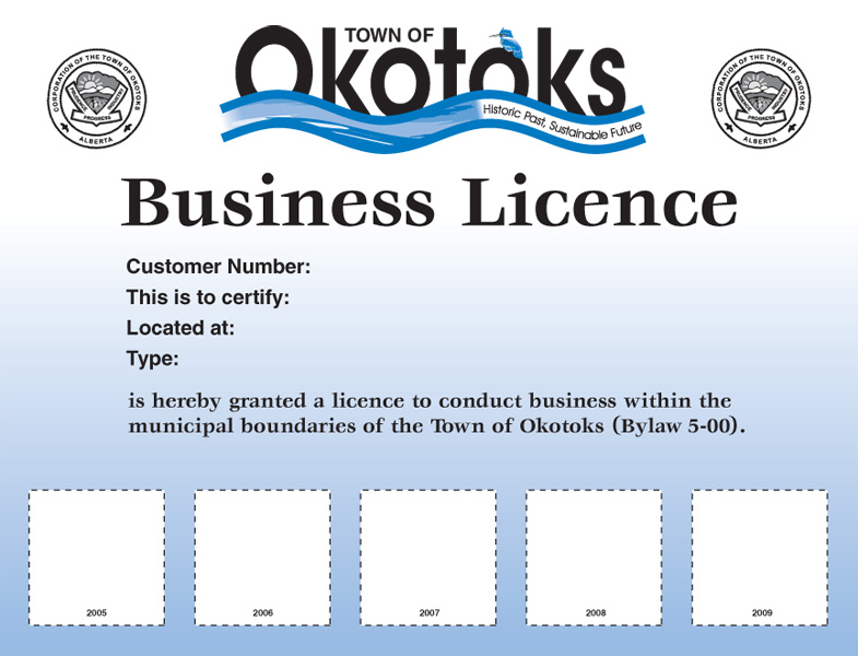 Town of Okotoks Business License