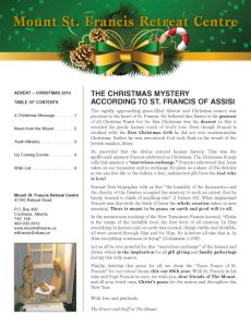 Mount St Francis Christmas Newsletter (6 issues)