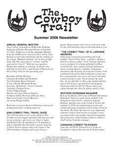 The Cowboy Trail Newsletter (40 issues)