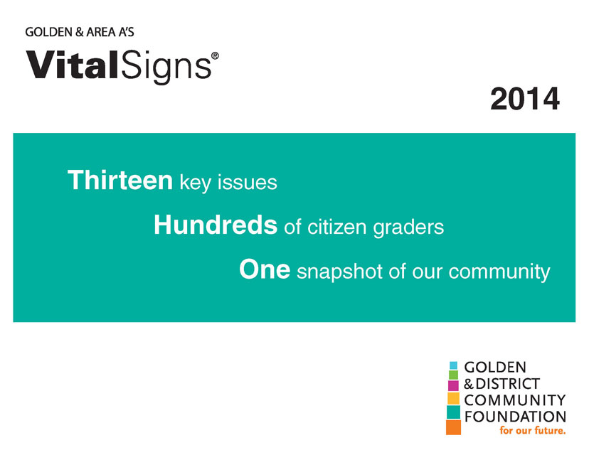 Golden and District Community Foundation VitalSigns Newsletter
