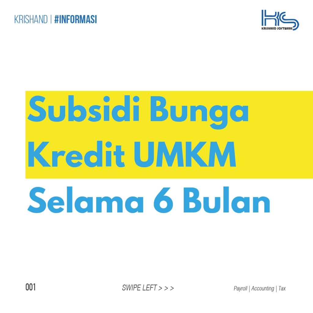 subsidi bunga kredit umkm