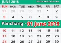 Panchang 01 June 2018