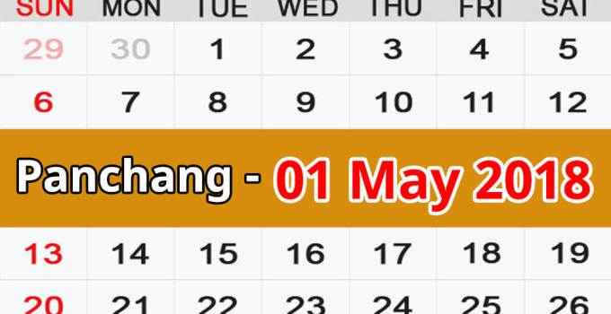 Panchang 01 May 2018