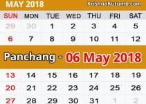 Panchang 06 May 2018