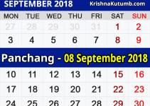 Panchang 08 September 2018