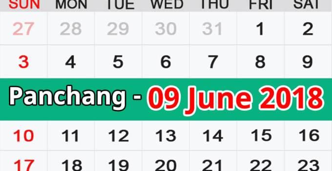 Panchang 09 June 2018