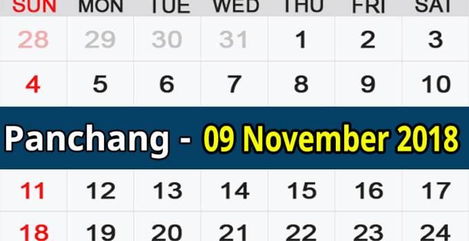 Panchang 09 November 2018