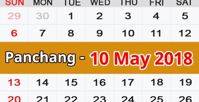 Panchang 10 May 2018