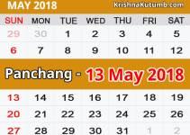 Panchang 13 May 2018