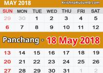 Panchang 18 May 2018