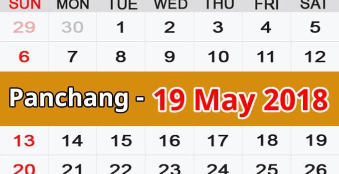 Panchang 19 May 2018