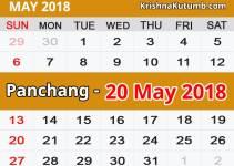 Panchang 20 May 2018