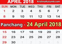 Panchang 24 April 2018