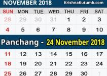 Panchang 24 November 2018