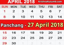Panchang 27 April 2018
