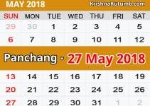 Panchang 27 May 2018