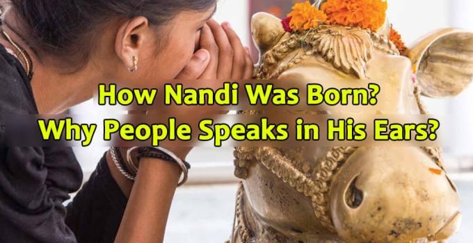 How nandi was born - Why people speaks in his ears - Krishna Kutumb