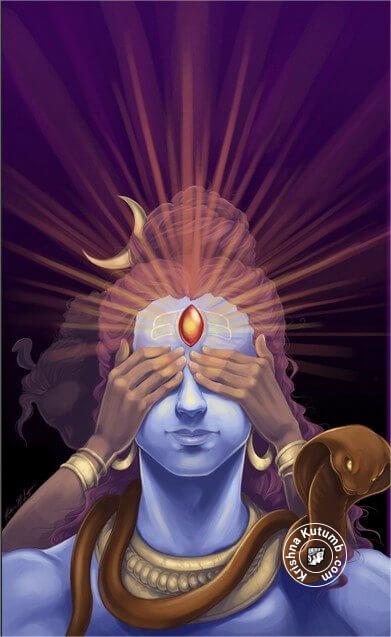 Shiva Third Eye Open - Krishna Kutumb