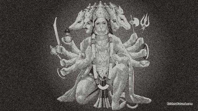 Old Panchmukhi Hanuman ji image - Krishna Kutumb™