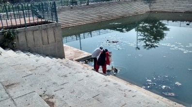 people dumping stuff in halasuru lake