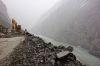 Landslide being cleared