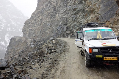 Narrow mountain roads