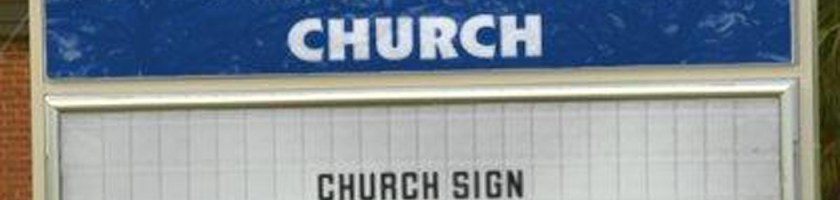 Fake Orange Church of God Sign