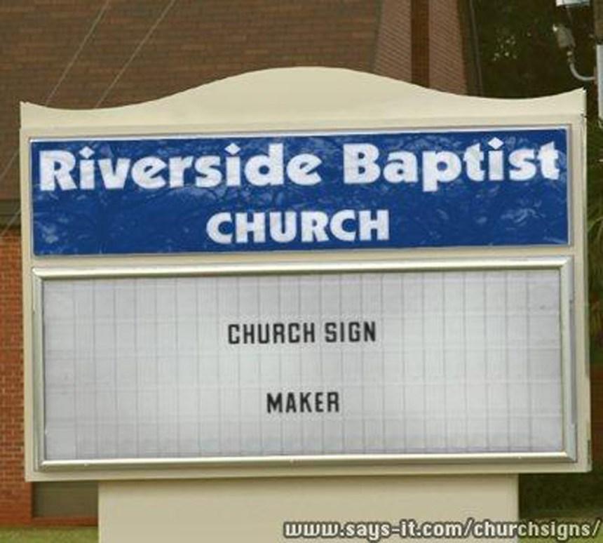 Fake Orange Church of God Sign