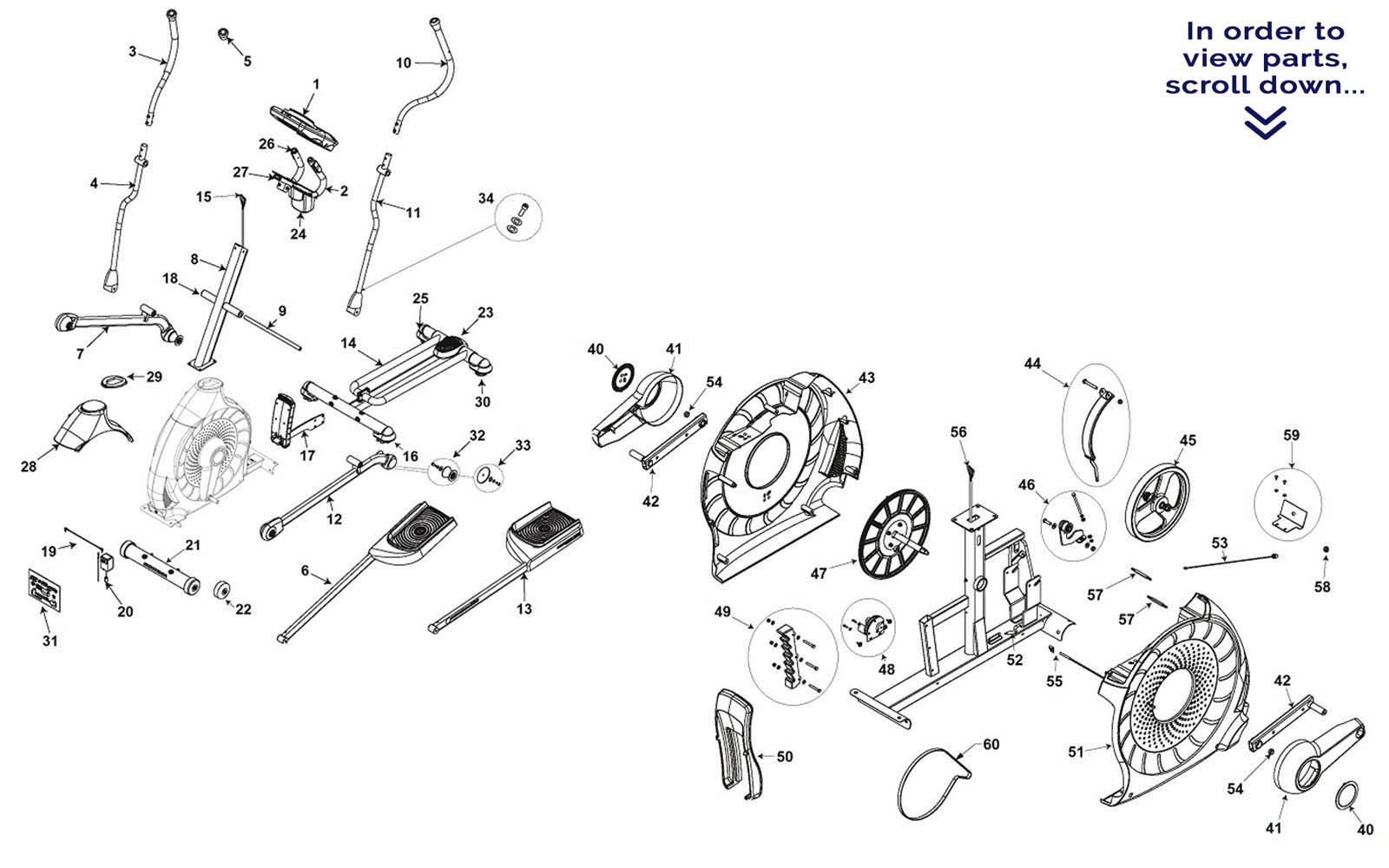 Schwinn 430 Elliptical Repair Parts